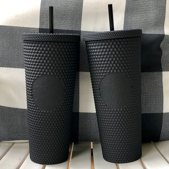 2 Starbucks Matte Black Studded Tumblers Fall 2019 Nwt